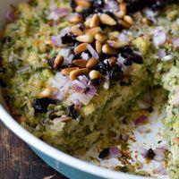 Spinach Rice Gratin Recipe by 101 Cookbooks will sub cauliflower for the tofu.