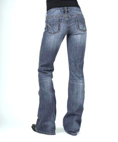 Look at this #zulilyfind! Medium Blue Thick-Stitch Bootcut Jeans #zulilyfinds