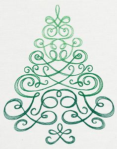 Delicate Christmas Tree | Urban Threads: Unique and Awesome Embroidery Designs
