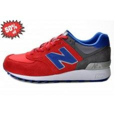 new product e66af 972d5 (XZ5jU0) Hommes NB  576  Chaussures rouge bleu blanc gris. Red And BlueBlue  GreyNew Balance 574 GreyNike Air MaxGreys ...