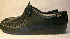 SAS Bounce Shoes Lace Up Size 9 WW Double Wide Black | Clothing, Shoes & Accessories, Women's Shoes, Flats & Oxfords | eBay!