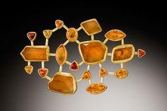 Petra Class Rough Imperial Topaz and Hessonite Garnet