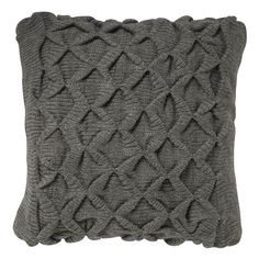 Scuplted Origami Pillow Cover (x2) in Heather Gray. $34 each at West Elm.