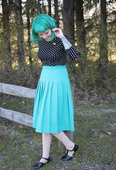 what I wore : tiny bunnies + polka dots   The Dainty Squid