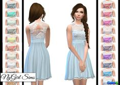 NY Girl Sims: Layered Lace Flare Dress • Sims 4 Downloads (Already Downloaded -Maia)