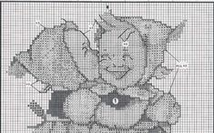 """Telling Her Secret"" Hummel cross stitch pattern  -  1A"