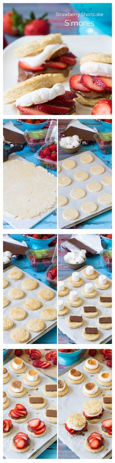 S'mores Strawberry Shortcake Recipe #smores #summer #strawberryshortcake