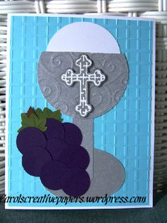 First Communion Card  carolscreativepapers.wordpress.com