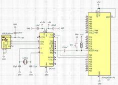 ATmega328 with CH340 IC Circuit Diagram Circuit Diagram, Circuits