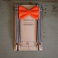 halloween wedding suspenders and bow tie for groomsmen