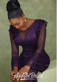An is a wedding guest {bella} looking stunning in aso-ebi – the fabric/colors of the day, at a - AsoEbi Bella. African Fashion Ankara, Latest African Fashion Dresses, Afro, Lace Gown Styles, African Lace Dresses, Lace Outfit, Africa Fashion, Women's Fashion, Aso Ebi