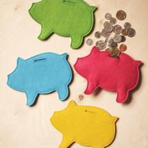 Felty piggy bank