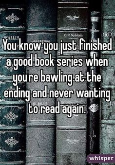 Because books make you experience unparalleled and complex emotions. #mockingjay