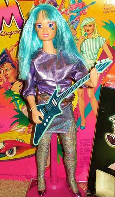 In the time of Barbies, I was Jem. she's truely outrageous. oh dear 1980s Barbie, Barbie And Ken, Barbie Dolls, Best 80s Cartoons, Classic Cartoons, 1980s Childhood, My Childhood Memories, Dolls From The 80s, Jem Et Les Hologrammes