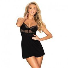 Charlotte es un chemise a la que ni tú ni tu otra mitad podreis resistiros Beautiful Lingerie, Hot, Sexy, Matins, Armatures, Bonnets, Black, Dresses, Parfait