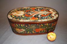 Antique Swedish Keepsake Box, Original Paint, Circa 1830