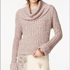 NWT Free People Twisted Cable Cowl Neck Sweater  NWT Free People Twisted Cable Cowl Neck Sweater perfect fun and stylish Free People Sweaters Cowl & Turtlenecks