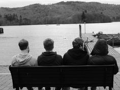 #lake #view #windermere #boys #relax #landscape