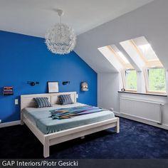 Eine Kühle Farbgestaltung Im Schlafzimmer Fördert Einen Guten Schlaf. Wer  Daher Sein Schlafzimmer In Blau Gestalten Möchte, Kann Dies Beispielsweise  Mit U2026