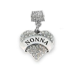 Nonna Pave Heart Memory Charm