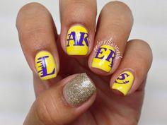 Nails By Celine: Lakers  #nail #nails #nailart