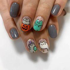 Animal Nail Art, Finger Art, Unicorn Nails, Halloween Nail Art, Pusheen, Nail Tech, Nail Artist, How To Do Nails, Nail Designs