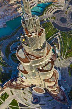 Vue aérienne du Burj Khalifa à Dubai - http://www.photomonde.fr/vue-aerienne-du-burj-khalifa-a-dubai/