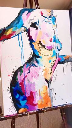 Figure Painting, Painting & Drawing, Sexy Painting, Wow Art, Diy Canvas Art, Erotic Art, Figurative Art, Art Tutorials, Watercolor Art