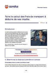 Faire le calcul des frais de transport à déduire de vos impôts