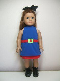 18 American Girl Doll Luna Dress & Panties Set by SewWowSewNow