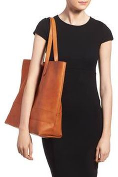 Alternate Image 2  - Sole Society Oversize Faux Leather Shopper