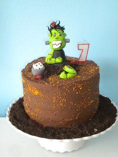 Zombie cake for my b-day boy!