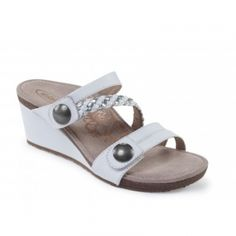 Aetrex Lydia Adjustable Wedge: White