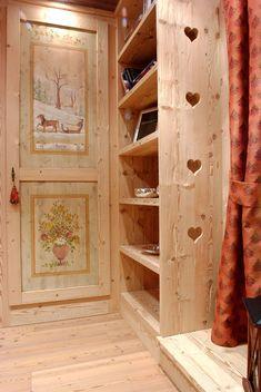 Bildergebnis für garderoben im alpine chalet style Cabin Homes, Log Homes, Chalet Design, House Design, Chalet Style, Swiss Chalet, Alpine Chalet, Chalet Interior, Alpine Style