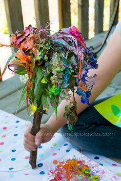 flower fairy brush