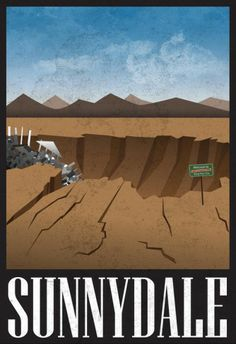 Sunnydale Retro Travel Poster Posters at AllPosters.com