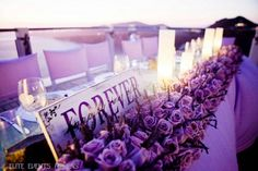 "Photo 26 of Lavender, Lilac, Island, Santorini, Greece / Wedding ""Santorini Lavender Wedding"" Santorini Wedding, Greece Wedding, Wedding Reception, Our Wedding, Dream Wedding, Magical Wedding, Wedding Stuff, Reception Decorations, Wedding Centerpieces"