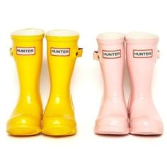 yellow baby hunter rain boots!