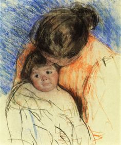 Sketch of Mother Looking down at Thomas,  Mary Cassatt - circa 1905-1915