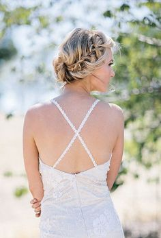 Boho chic braided updo {Photo courtesy of Blooming Beauty by Cammy via Project Wedding}