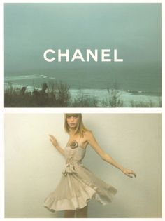 Chanel F/W 2001 ad campaign with Angela Lindvall, by Karl Lagerfeld