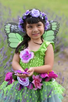 Girls Kids Fairy Dress Costume Cosplay Mint Petal Small