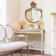 French Gilded Bouquet Mirror
