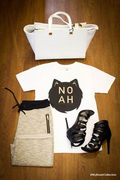 Ladies, the Logo Tee from the NOAH collection pairs great with some joggers and heels, and don't forget the handbag