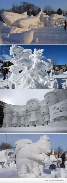 The Best Snow Sculptures EVER!                                                                                                                                                                                 More