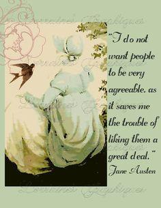 Jane Austen Quote Shabby Chic Fine Art Photographic Print