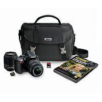 Nikon D5200 24.1MP DSLR Camera Bundle with 18-55mm VR Lens, 55-200mm, DSLR Bag, Wifi Adapter, and 16GB SDHC Card - Sam's Club