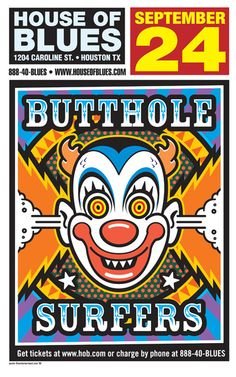 Uncle Charlie - Butthole Surfers Gig Poster