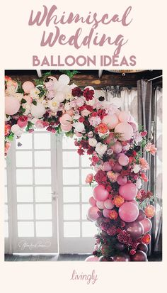 Whimsical balloons are the newest wedding decor trend.