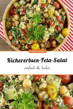 Lunch zum Mitnehmen: Kichererbsen-Feta-Salat | eatsmarter.de #kichererbsen #feta #salat